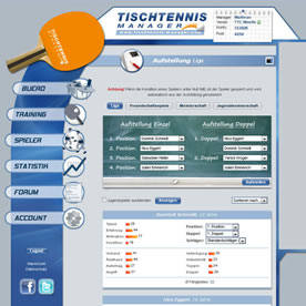 Tischtennis Manager Screenshot 2